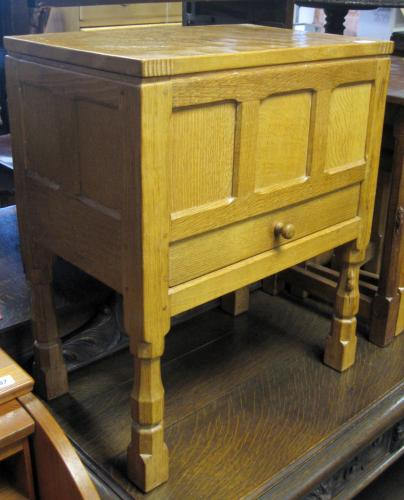 Image of Lot 1091  - A Thompson, Mouseman adzed oak sewing box