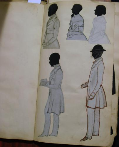Image of Lot  281  - A Victorian scrap book of silhouettes etc