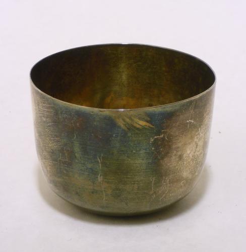 Image of Lot  115  - A silver tumbler cup Richard Evans (Shrewsbury) London assay 1781.  Approx 63gr, 65mm diameter