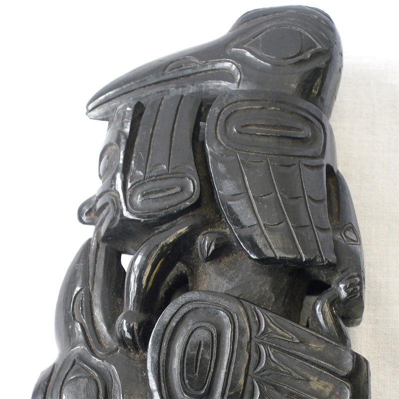 Image of Lot 397 - A Native American Haida people pipe, carved argillite, 19th century
