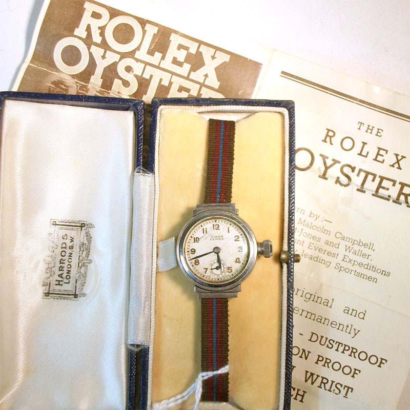 "Image of Lot 90 - A Rolex ladies wristwatch  having manual wind movement in Art Deco influence ""Egyptian"" case, stem a/f.  In Harrods box, with papers"