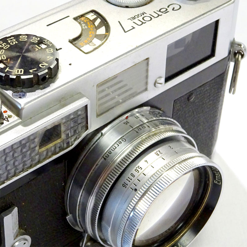 Image of Lot 504 - A Canon 7 rangefinder camera together with leather case & Leitz, Dallmeyer & Jupiter lenses