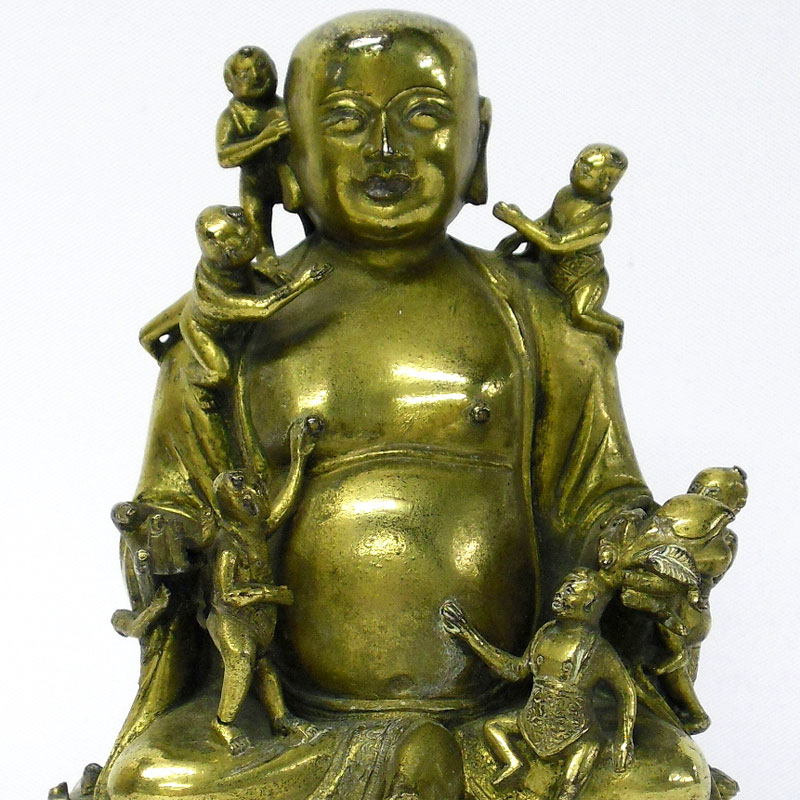 Image of Lot 43 - A gilt bronze Buddha