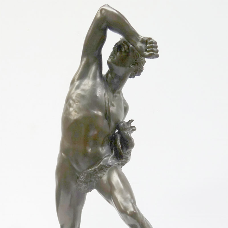 Image of Lot 272 - Male figure, bronze bearing signature C.B. Birch 1879
