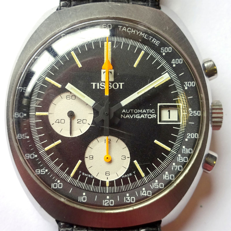 Image of Lot 72 - A Tissot Automatic Navigator chronograph watch c1973