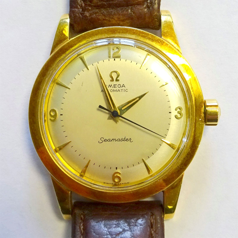 Image of Lot 119 - Omega Seamaster gent's wristwatch having bumper automatic movement in an 18ct gold case, c1950